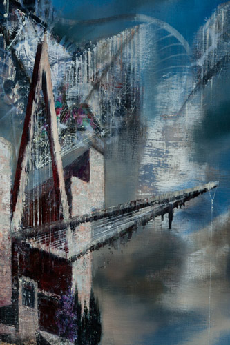 No-Bridge-No-Fear,-Detail-IV - Painting by Michael Kunze