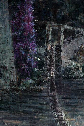 No-Bridge-No-Fear,-DetailV - Painting by Michael Kunze