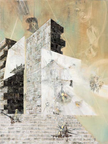 Atlier/Zwinger · Studio/Stronghold - Painting by Michael Kunze